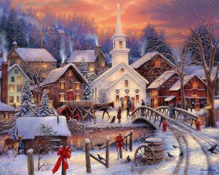 Юбилею школы, новогодние пейзажи для открыток